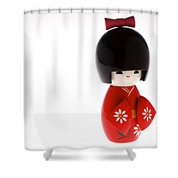 Kokeshi Doll Shower Curtain by Larry Dale Gordon - Printscapes