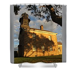 Lighthouse Old Field Point New York Shower Curtain by Bob Savage
