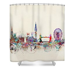 London City Skyline Shower Curtain