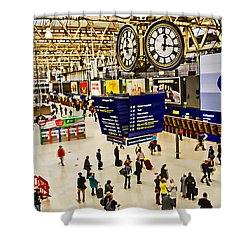 London Waterloo Station Shower Curtain