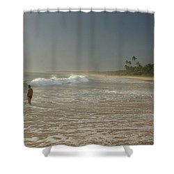 Long Beach Kogalla Shower Curtain