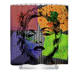 Madonna  Shower Curtain by Mark Ashkenazi