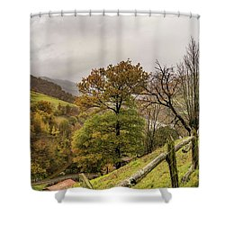 Mountains And Valleys All Around Shower Curtain