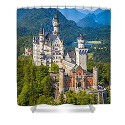 Neuschwanstein Fairytale Castle Shower Curtain