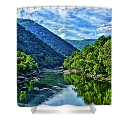 New River Gorge National River Shower Curtain
