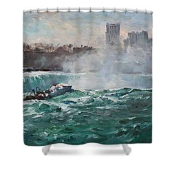 Niagara Falls Shower Curtain by Ylli Haruni