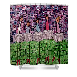 Shower Curtain featuring the painting 4 Non-blondes by Donna Howard