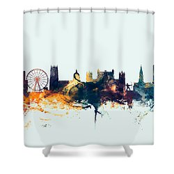 Nottingham England Skyline Shower Curtain