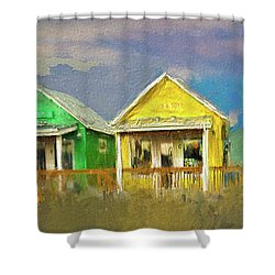 4 Of A Kind Shower Curtain by Dale Stillman