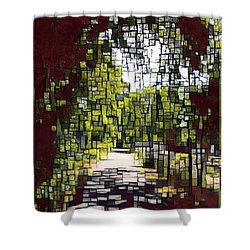 On The Path Shower Curtain