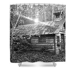 One Room School House Gnawbone Indiana Shower Curtain by Scott D Van Osdol
