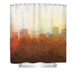 Shower Curtain featuring the digital art Parsippany New Jersey Skyline by Marlene Watson