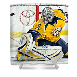 Shower Curtain featuring the digital art Pekka Rinne by Don Olea