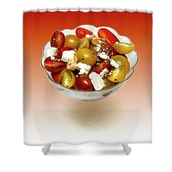 Plum Cherry Tomatoes Shower Curtain