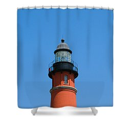 Ponce De Leon Inlet Lighthouse Shower Curtain by Allan  Hughes