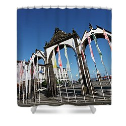 Ponta Delgada - Azores Shower Curtain by Gaspar Avila