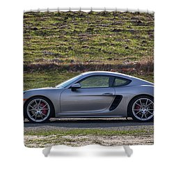 Shower Curtain featuring the photograph #porsche #718cayman S #print by ItzKirb Photography