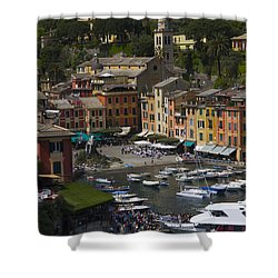 Portofino In The Italian Riviera In Liguria Italy Shower Curtain