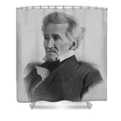 President Andrew Jackson Shower Curtain by War Is Hell Store