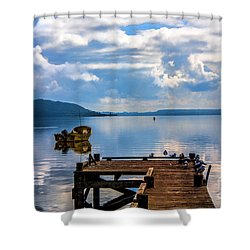 Quiet Lake Shower Curtain