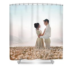 Regency Couple Shower Curtain by Lee Avison