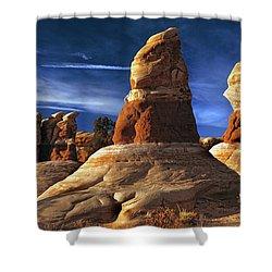 Sandstone Hoodoos In Utah Desert Shower Curtain