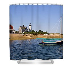 Sandy Neck Lighthouse Shower Curtain by Charles Harden