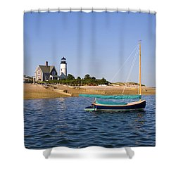 Sandy Neck Lighthouse Shower Curtain