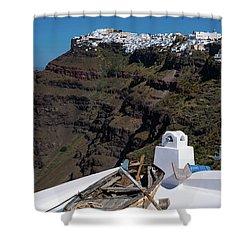 Santorini, Greece Shower Curtain