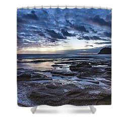 Seascape Cloudy Nightscape Shower Curtain