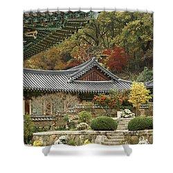 Seonamsa In Autumn Shower Curtain