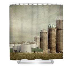4 Silos Shower Curtain