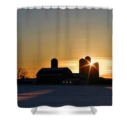 4 Silos Shower Curtain by Judy  Johnson