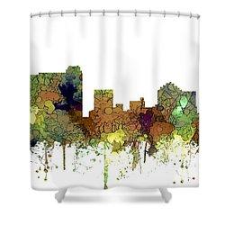 Shower Curtain featuring the digital art St Petersburg Florida Skyline by Marlene Watson