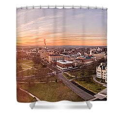 Sunrise In Hartford, Connecticut Shower Curtain by Petr Hejl