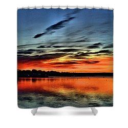 Sunrise Onset Pier Shower Curtain