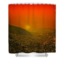 Sunset Shower Curtain by Charuhas Images