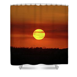 Shower Curtain featuring the photograph 4- Sunset by Joseph Keane