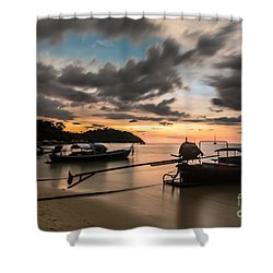 Sunset Over Koh Lipe Shower Curtain