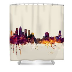 Tampa Florida Skyline Shower Curtain