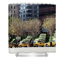 4 Taxis In The City Shower Curtain