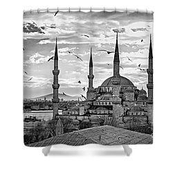 The Blue Mosque - Istanbul Shower Curtain by Luciano Mortula