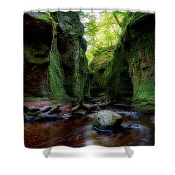 The Devil Pulpit At Finnich Glen Shower Curtain
