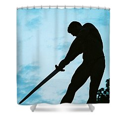The Gladiator Shower Curtain by Jake Hartz