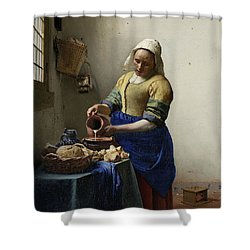 The Milkmaid, 1660 Shower Curtain