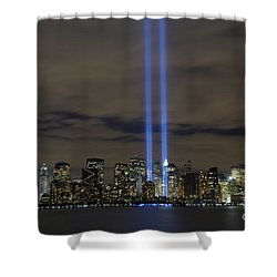 Shower Curtain featuring the photograph The Tribute In Light Memorial by Stocktrek Images