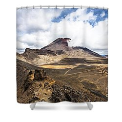 Tongariro Alpine Crossing In New Zealand Shower Curtain