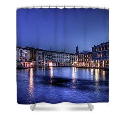 Venice By Night Shower Curtain by Andrea Barbieri