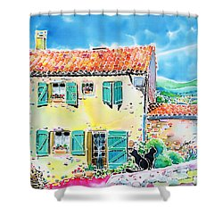 View Of Luberon Shower Curtain