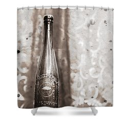 Shower Curtain featuring the photograph Vintage Beer Bottle by Andrey  Godyaykin